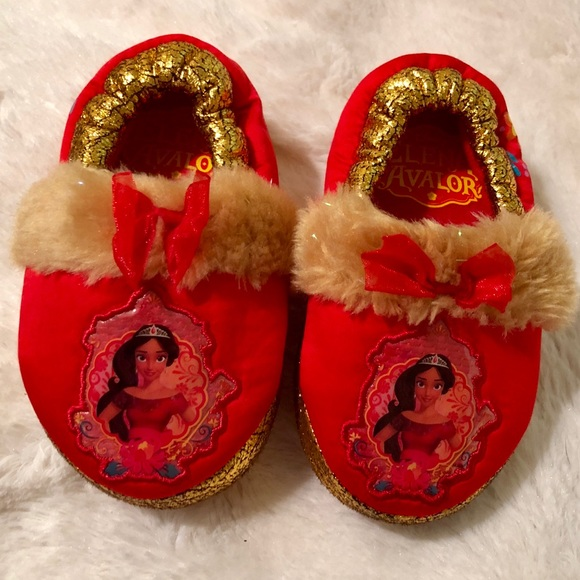 Elena of Avalor Disney Plush Slippers Toddlers and Girls Sizes